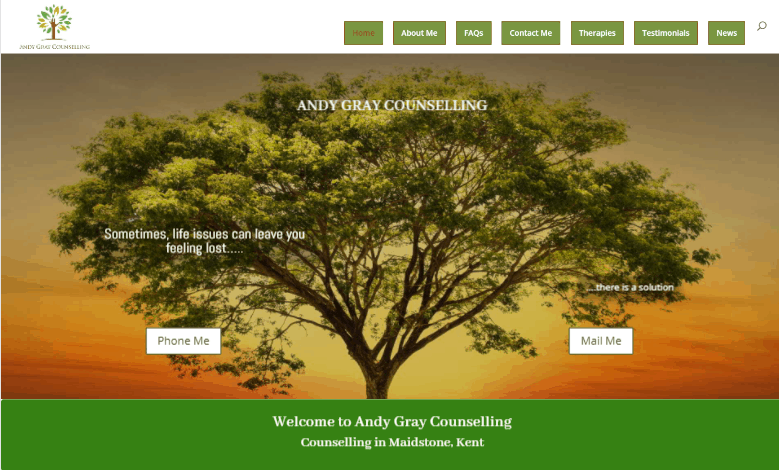 Wordpress Kent website Andy Gray