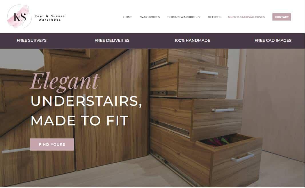 new website wardrobes company kent